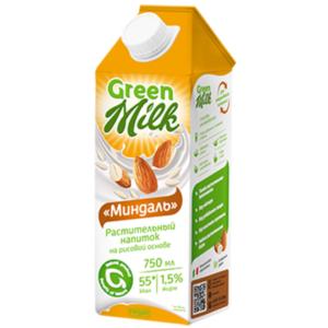 Напиток миндальный на рисовом молоке, 750 мл (Green Milk)