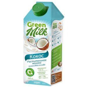 Напиток кокосовый на рисовом молоке, 750 мл (Green Milk)