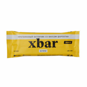 Батончик протеиновый Xbar Шарлотка, 60 г (Vasco)