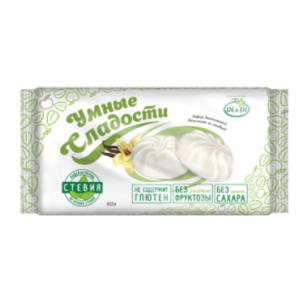 Зефир ванильный со стевией, 50 гр (Умные сладости)