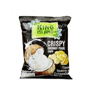 Кокосовые чипсы из сердцевины пророщенного кокоса, 40 г (King Island)