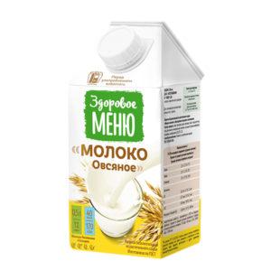 Молоко овсяное, 500 мл (Здоровое меню)