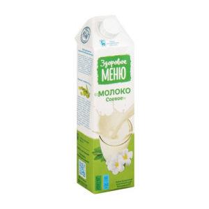 Молоко соевое, 1 л (Здоровое меню)