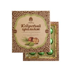 Конфеты Кедровый грильяж с сосновой шишкой, 120 г (Сибирский кедр)