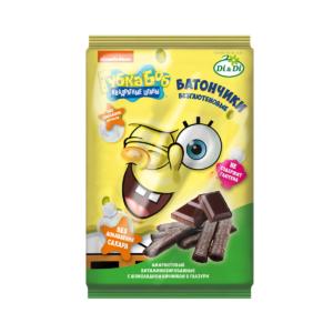 Батончики Губка Боб безглютеновые с шоколадной начинкой, 110 г (Di and Di)