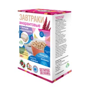 Завтраки амарантовые с белым шоколадом, 250 г (Di and Di)