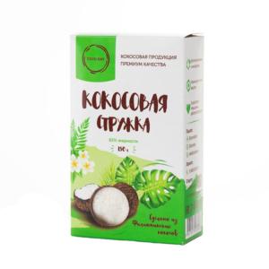 Стружка кокосовая 65% жирности, 150 г (CocoDay)