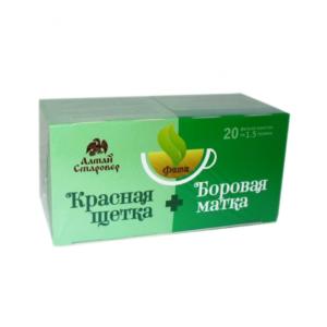 Чай Фита Красная щётка и боровая матка, 20 фильтр-пакетов (Старовер)