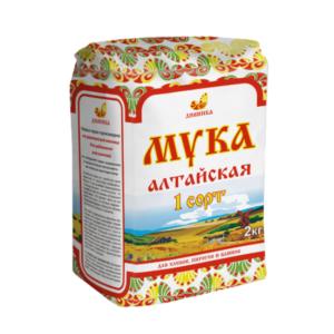 Мука пшеничная 1 сорт, 2 кг (Дивинка)