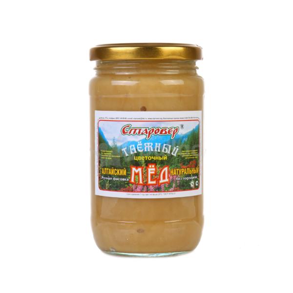 Мёд таёжный фигурная банка, 500 г (Старовер)