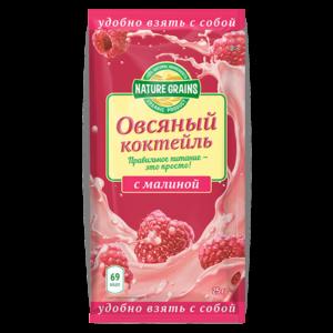 Коктейль овсяный с малиной Nature Grains, 25 г (Компас здоровья)