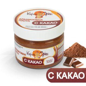 Арахисовая паста с какао, 300 г (Король Орех)