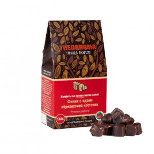 Конфеты шоколадные Финик с ядром абрикосовой косточки, 160 г (Пища Богов)