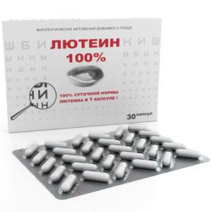 Лютеин 100% для глаз, 30 капс*476 мг (Real Caps)