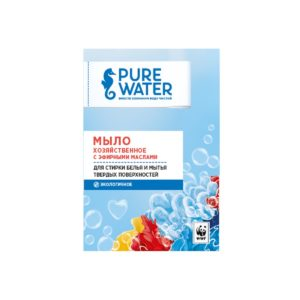 Мыло хозяйственное с эфирными маслами, 175 г (Pure Water)