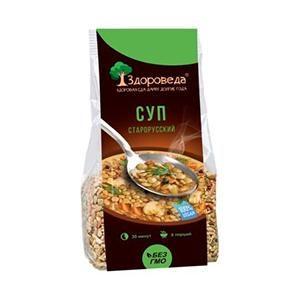 Суп старорусский из полбы и зелёной чечевицы, 250 г (Здороведа)