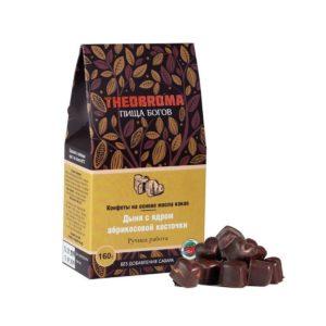 Конфеты шоколадные Дыня с ядром абрикосовой косточки, 160 г (Пища Богов)