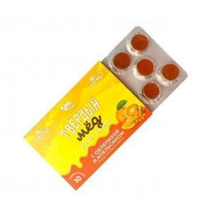 Карамель Твёрдый мёд с облепихой и апельсином, 30 г (Honey Way)