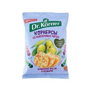 Чипсы кукурузно-рисовые с оливковым маслом и розмарином, 50 г (Dr. Korner)