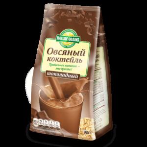 Коктейль овсяный шоколадный Nature Grains, 300 г (Компас здоровья)