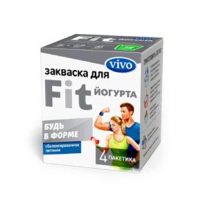 Закваска бактериальная FIT-Йогурт, 4 пак*0.5 г (Vivo)