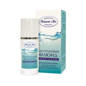 Флюид гиалуроновый для всех типов кожи, 50 мл (Нежный лён)