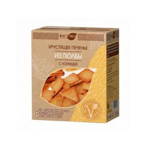 Печенье из полбы с корицей хрустящее, 170 г (Вастэко)