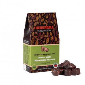 Конфеты шоколадные Изюм с ядром абрикосовой косточки, 160 г (Пища Богов)