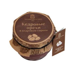 Кедровые орехи в кедровом сиропе, 160 г (Косьминский гостинец)