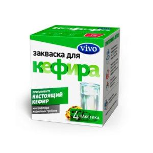 Закваска бактериальная Кефир, 4 пак*0.5 г (Vivo)