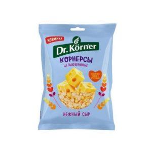Чипсы кукурузно-рисовые с сыром, 50 г (Dr. Korner)