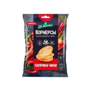 Чипсы кукурузно-рисовые с паприкой и чили, 50 г (Dr. Korner)