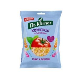 Чипсы кукурузно-рисовые с томатом и базиликом, 50 г (Dr. Korner)