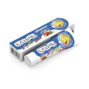 Зубная паста для детей Клубничная с омегой-3, 50 мл (Real Caps)