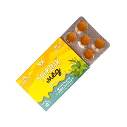 Карамель Твёрдый мёд с ментолом и эвкалиптом, 30 г (Honey Way)
