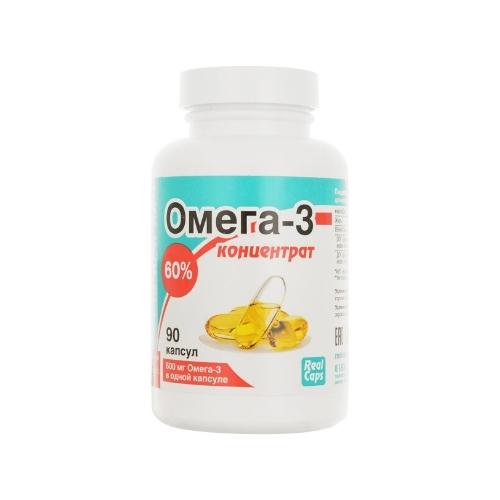 Омега-3 концентрат 60%, 90 капс*1000 мг (Real Caps)