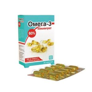 Омега-3 концентрат 60%, 30 капс*1000 мг (Real Caps)