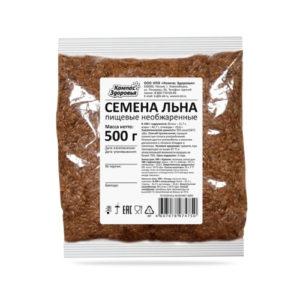 Семена льна, 500 г (Компас здоровья)