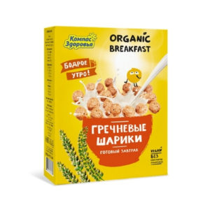 Готовый завтрак Гречневые шарики, 100 г (Компас Здоровья)