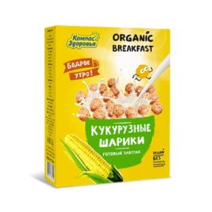 Готовый завтрак Кукурузные шарики, 100 г (Компас Здоровья)