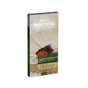 Тёмный шоколад с начинкой из пасты семян льна, 100 г (Биопродукты)