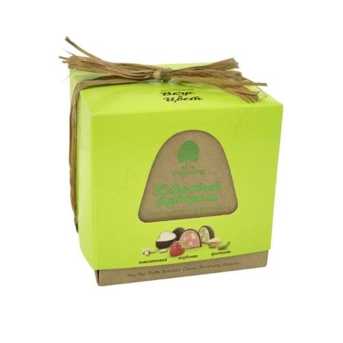 Конфеты кедровый трюфель ассорти из белого шоколада, 120 г (Сибирский кедр)