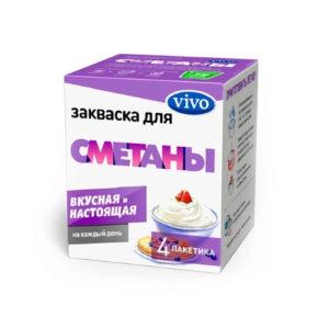 Закваска бактериальная Сметана, 4 пак*0.5 г (Vivo)