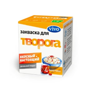 Закваска бактериальная Творог, 4 пак*0.5 г (Vivo)