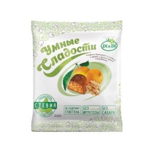 Конфеты Курага с грецким орехом в шоколадной глазури, 210 г (Умные сладости)