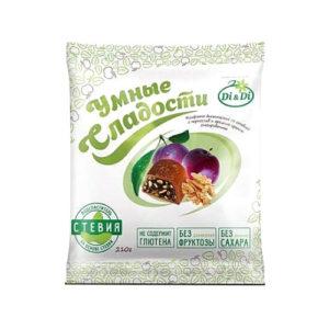 Конфеты Чернослив с грецким орехом в шоколадной глазури, 210 г (Умные сладости)