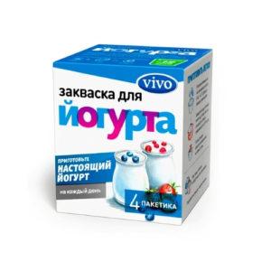 Закваска бактериальная Йогурт, 4 пак*0.5 г (Vivo)