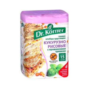 Хлебцы кукурузно-рисовые с прованскими травами, 100 г (Dr.Korner)
