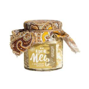 Крем-мёд с кедровыми орехами, 250 г (Мастерская добро)