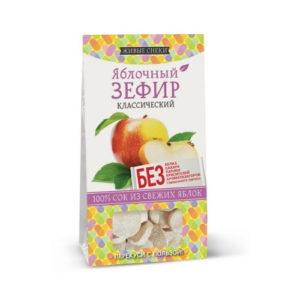 Зефир яблочный классический, 60 г (Живые снеки)